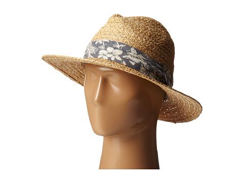 San Diego Hat Company RHF6004 Straw Panama Fedora w/ Palm Leaf Band - Natural
