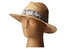 RHF6004 Straw Panama Fedora w/ Palm Leaf Band