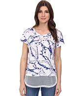 DKNY Jeans - Paint Drop Print Mesh Trim Tee