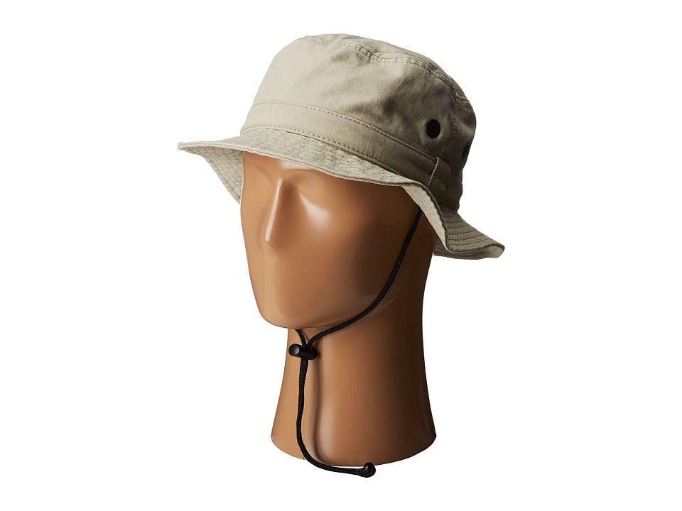 San Diego Hat Company - CTH3525 Outdoor Hat w/ Chin Cord (Beige) Caps