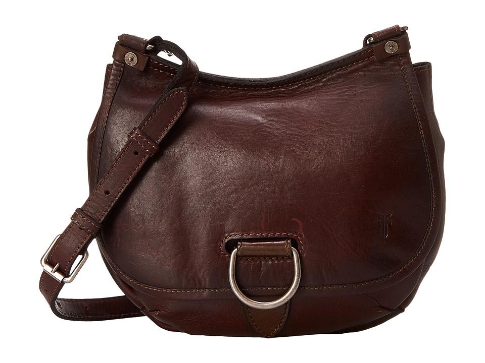 Frye Amy Crossbody Burgundy Oiled Vintage Leather Cross Body Handbags