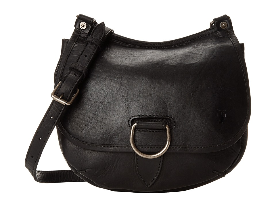 Frye Amy Crossbody Black Oiled Vintage Leather Cross Body Handbags
