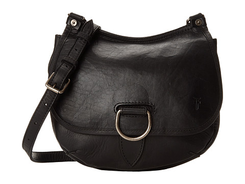 Frye Amy Crossbody - Black Oiled Vintage Leather