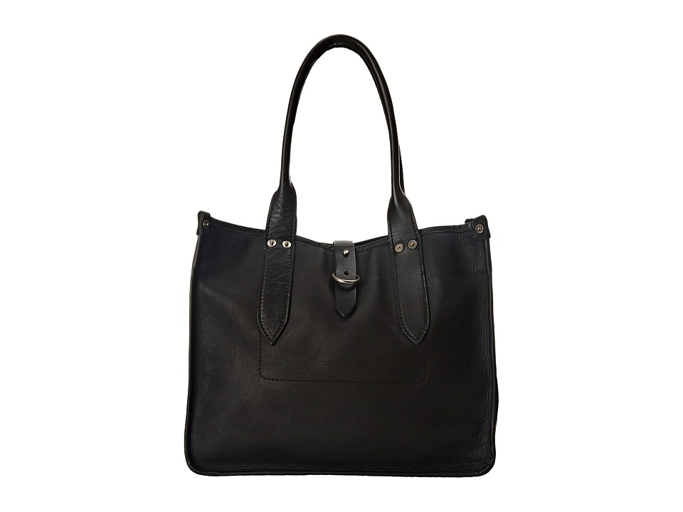 Frye - Amy Shopper (Black Oiled Vintage Leather) Tote Handbags