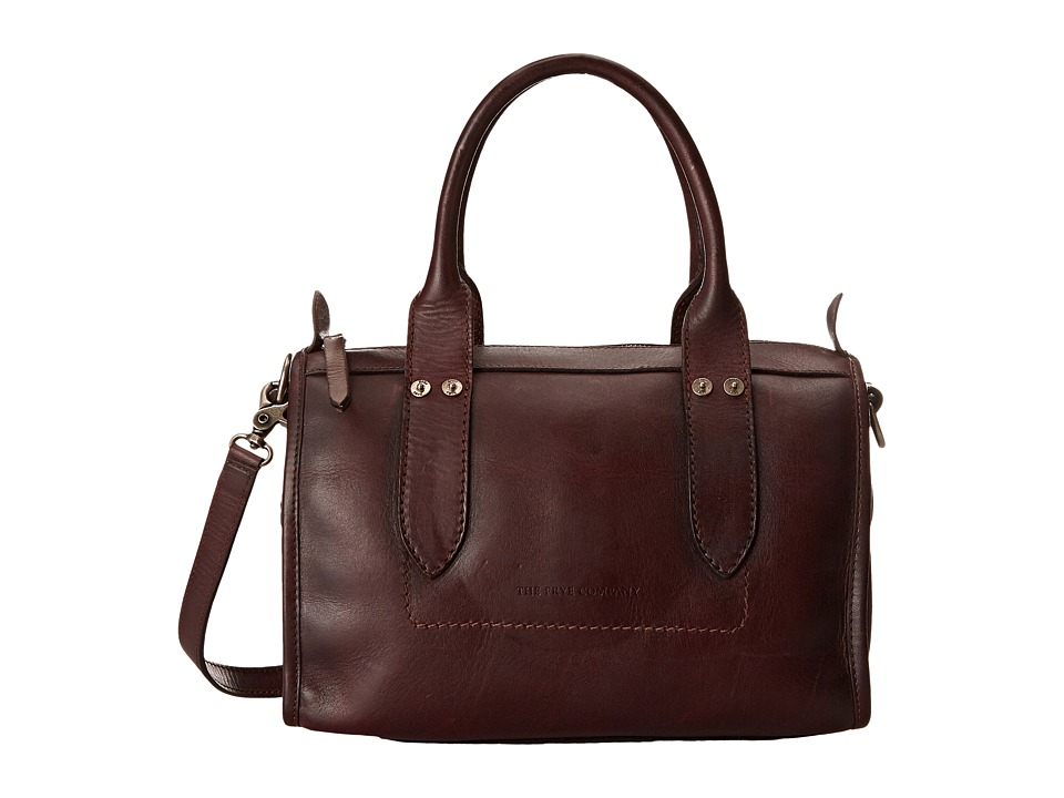 Frye Amy Zip Satchel Burgundy Oiled Vintage Leather Satchel Handbags