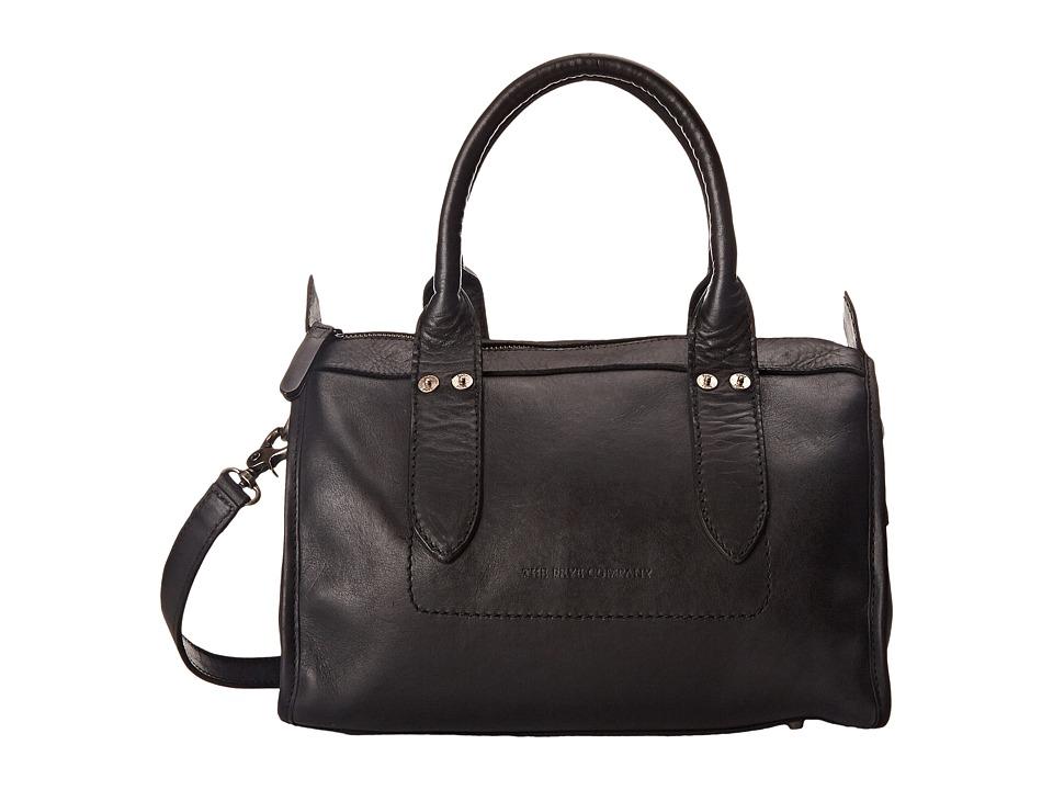Frye Amy Zip Satchel Black Oiled Vintage Leather Satchel Handbags