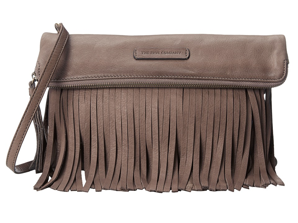 Frye - Heidi Fringe Crossbody (Grey Soft Vintage Leather) Cross Body Handbags