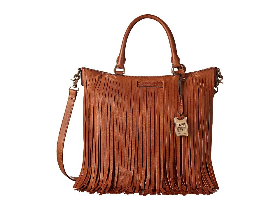 Frye - Heidi Fringe Tote (Whiskey Soft Vintage Leather) Tote Handbags