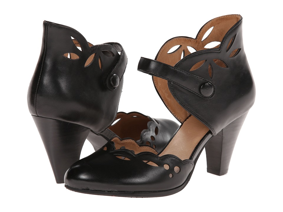 1940s Style Shoes Miz Mooz - Carlotta Black Womens 1-2 inch heel Shoes $104.99 AT vintagedancer.com