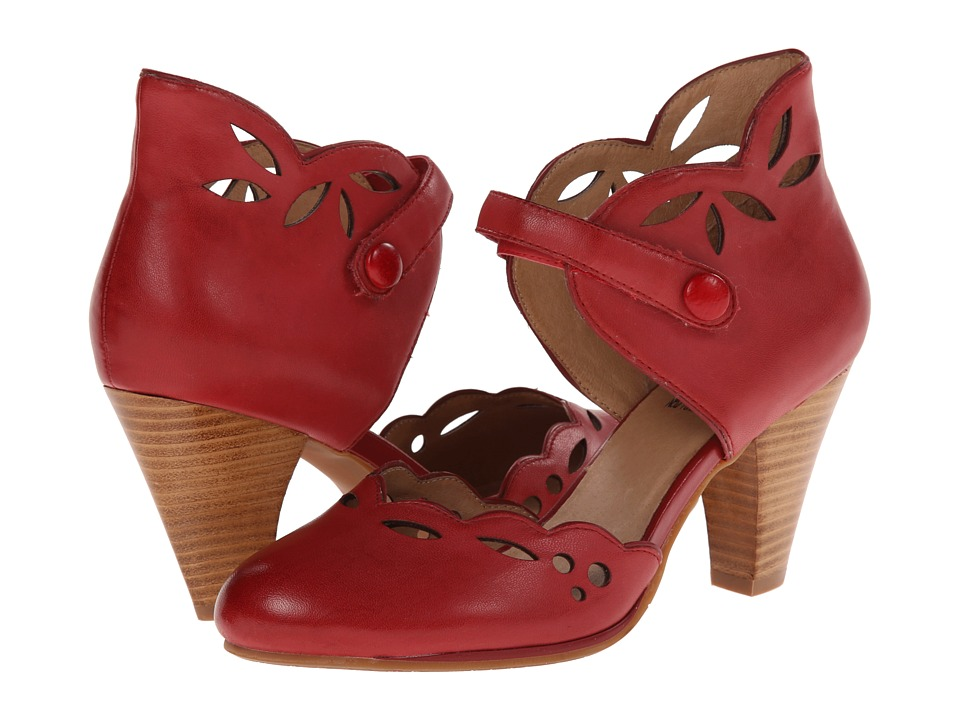 Miz Mooz - Carlotta Red Womens 1-2 inch heel Shoes $129.95 AT vintagedancer.com
