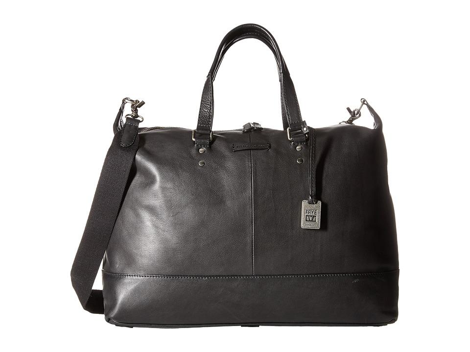 Frye - Ben Artisan Duffel (Black Tumbled Full Grain) Duffel Bags
