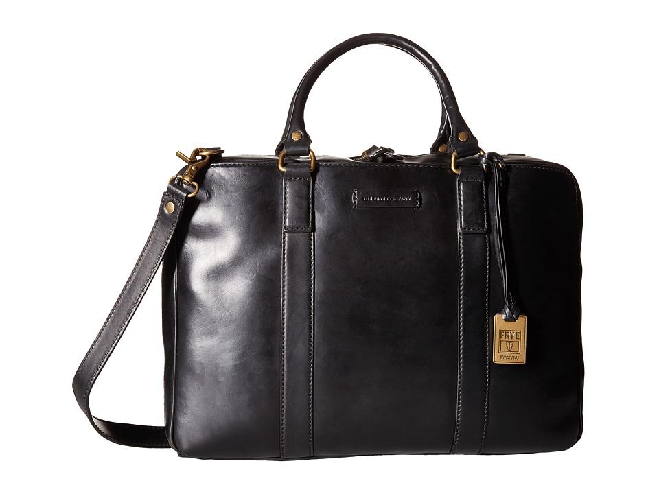 Frye - David Brief (Black Smooth Full Grain) Briefcase Bags