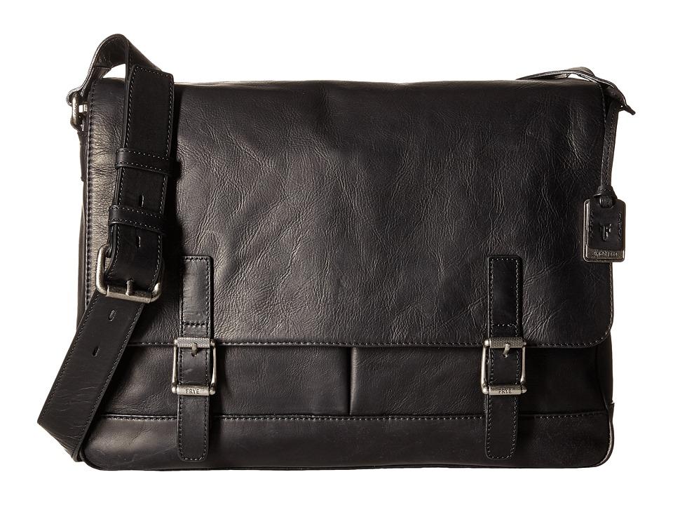 Frye - Oliver Messenger (Black Antique Pull Up) Messenger Bags