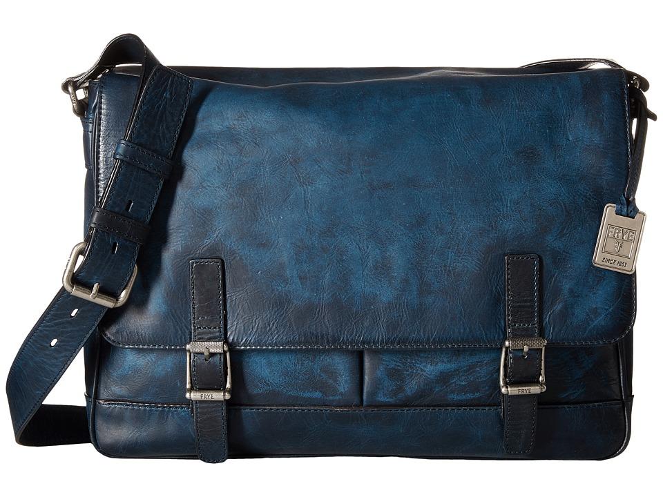 Frye - Oliver Messenger (Navy Antique Pull Up) Messenger Bags