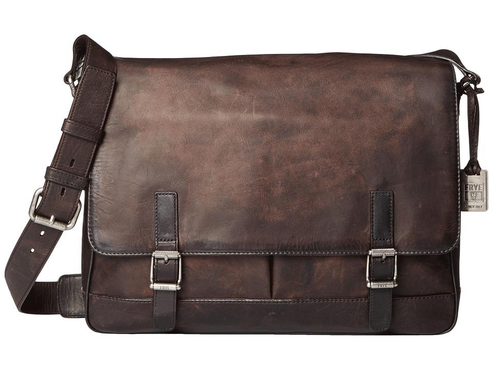 Frye - Oliver Messenger (Smoke Antique Pull Up) Messenger Bags