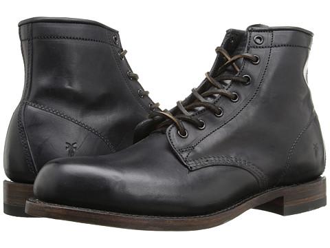 Frye Arkansas Mid Leather - Black Vintage Pull Up