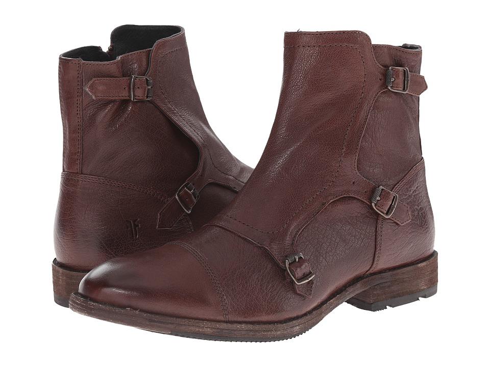 Frye Ethan Triple Monk (Dark Brown Buffalo Leather) Men