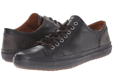 Frye Grand Low Lace - Black Smooth Vintage Leather