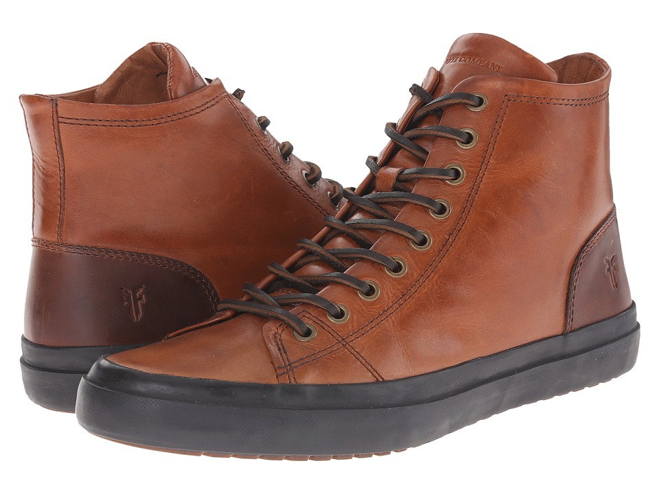 Frye Grand Tall Lace (Cognac Smooth Vintage Leather) Men