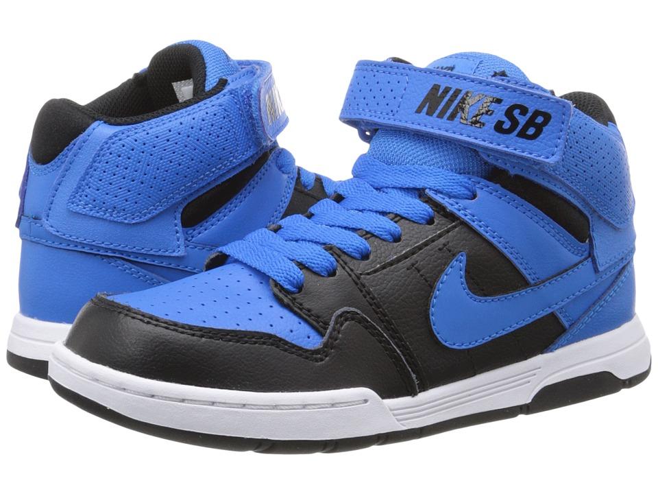 Nike SB Kids Mogan Mid 2 Jr Little Kid/Big Kid Photo Blue/Black/White/Photo Blue 1 Boys Shoes