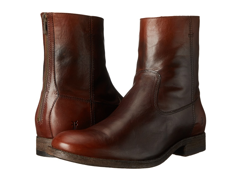 Frye - Jacob Back Zip (Redwood Antiqued Full Grain) Men