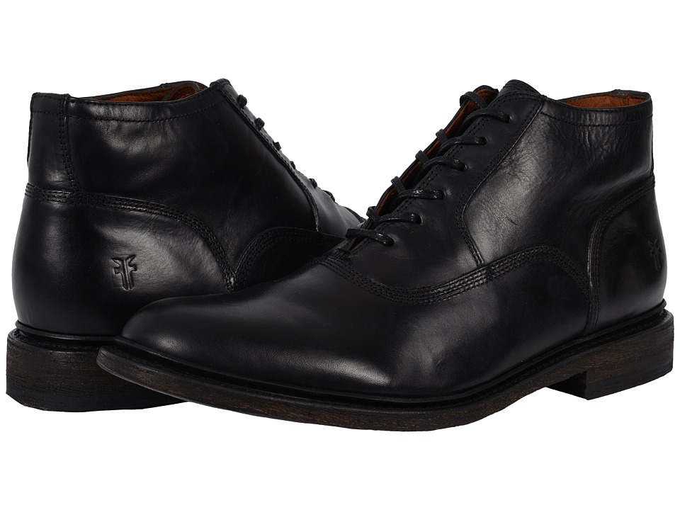 Frye - James Bal Chukka Leather (Black Smooth Vintage Leather) Men