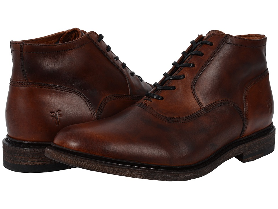 Frye - James Bal Chukka Leather (Cognac Smooth Vintage Leather) Men