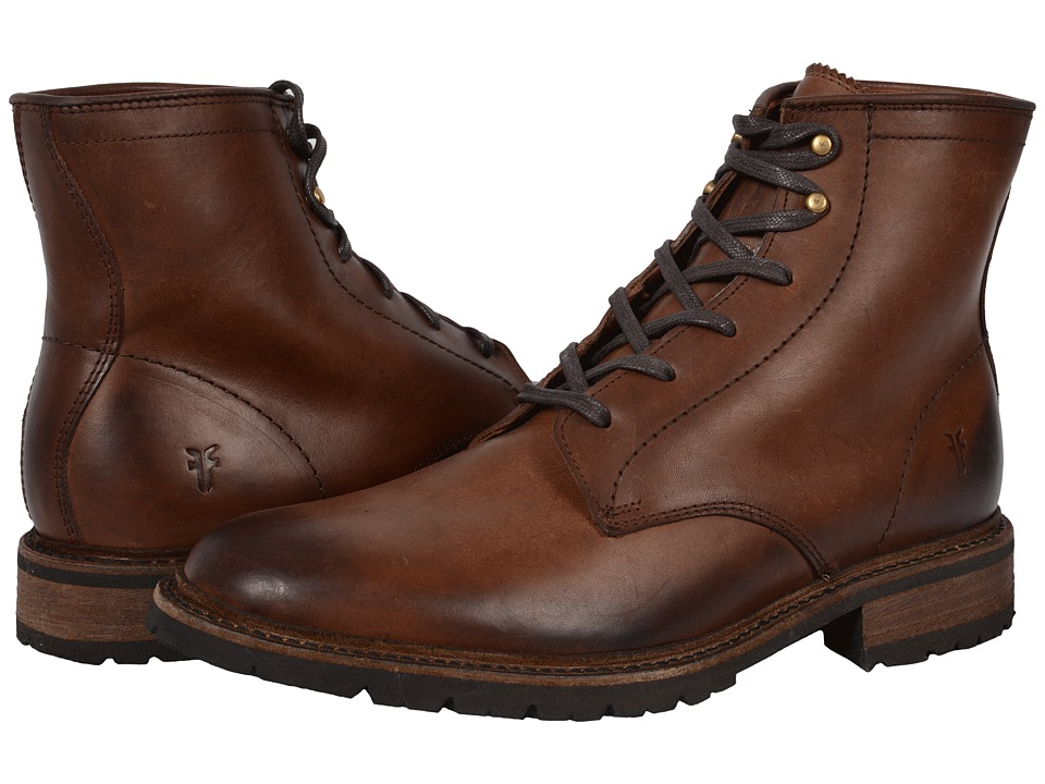 Frye - James Lug Lace Up (Dark Brown Smooth Full Grain) Men