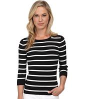 Pendleton - Petite 3/4 Sleeve Stripe Pullover