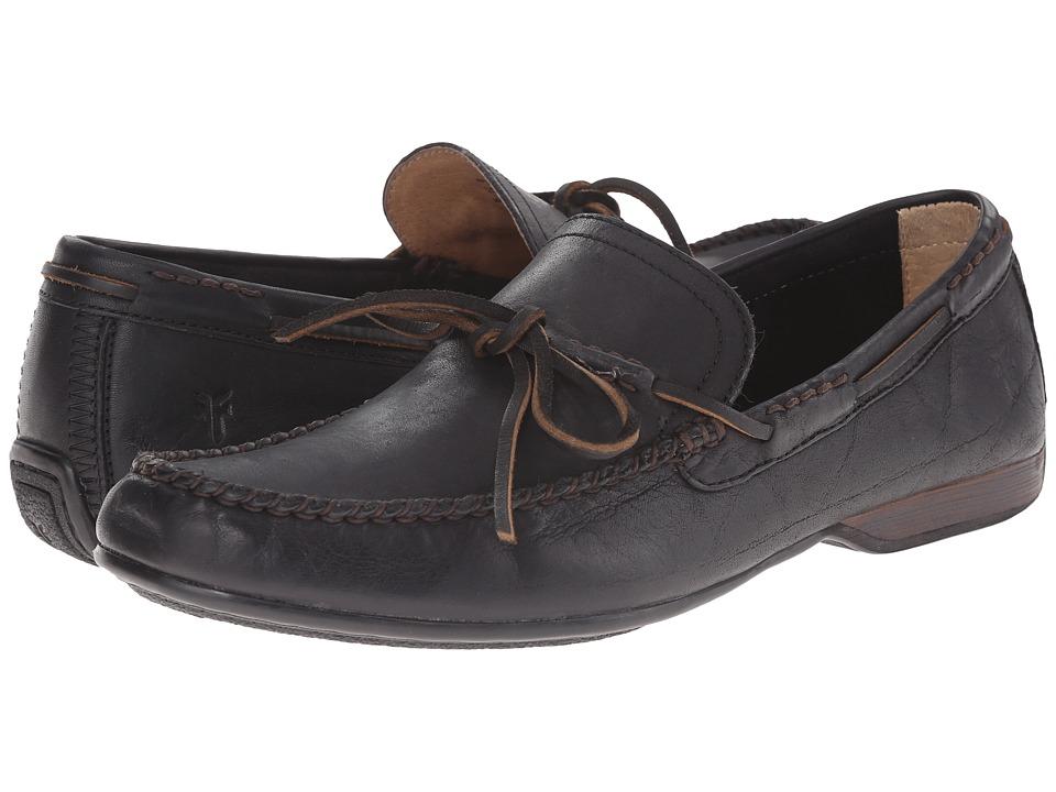 Frye - Lewis Tie (Black Oiled Vintage) Men