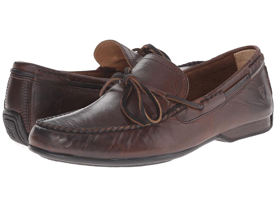 Frye - Lewis Tie (Dark Brown Oiled Vintage) Men