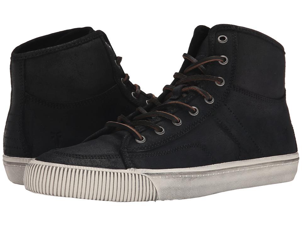 Frye - Miller High Lace (Black Waxed Vintage Leather) Men