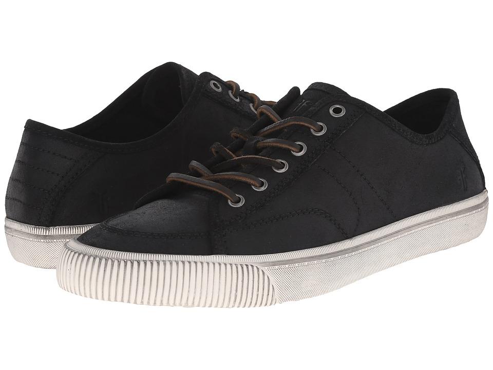 Frye - Miller Low Lace (Black Waxed Vintage Leather) Men