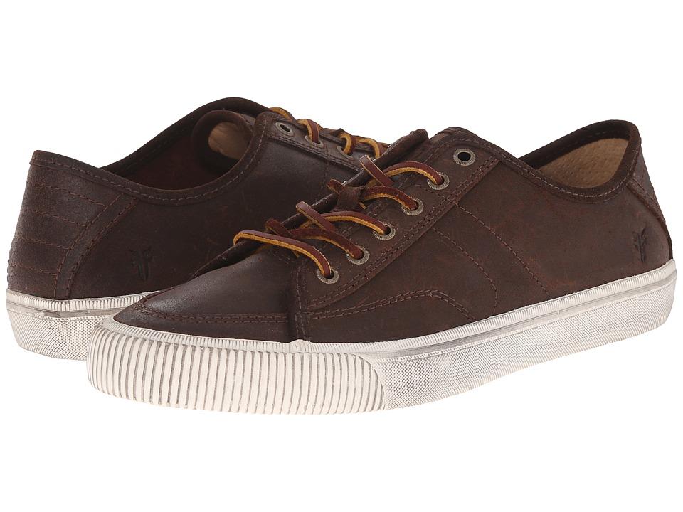 Frye - Miller Low Lace (Dark Brown Waxed Vintage Leather) Men