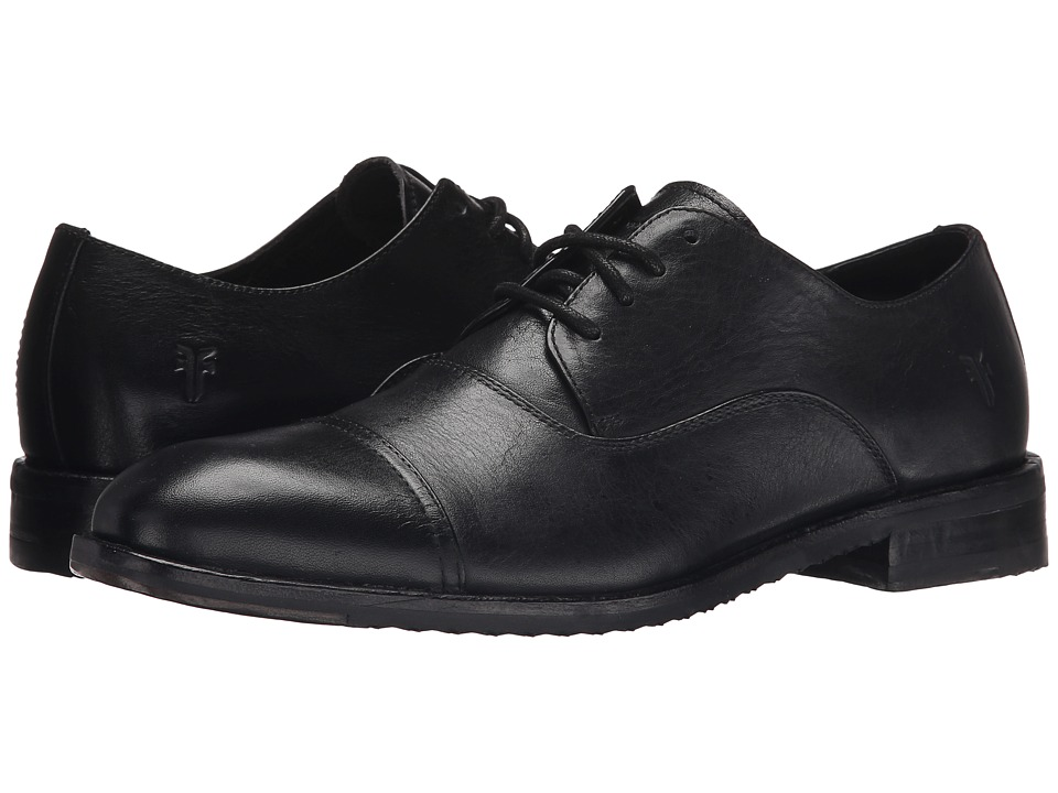 Frye Sam Oxford (Black Hand Antiqued Full Grain) Men