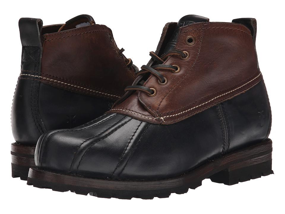 Frye Warren Duckboot (Black Multi Smooth Full Grain/Washed Vintage Leather) Men