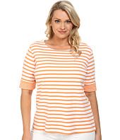 Pendleton - Plus Size Double Stripe Rib Tee