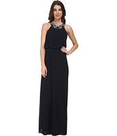 Vince Camuto - Chiffon Gown w/ Novelty Necklace