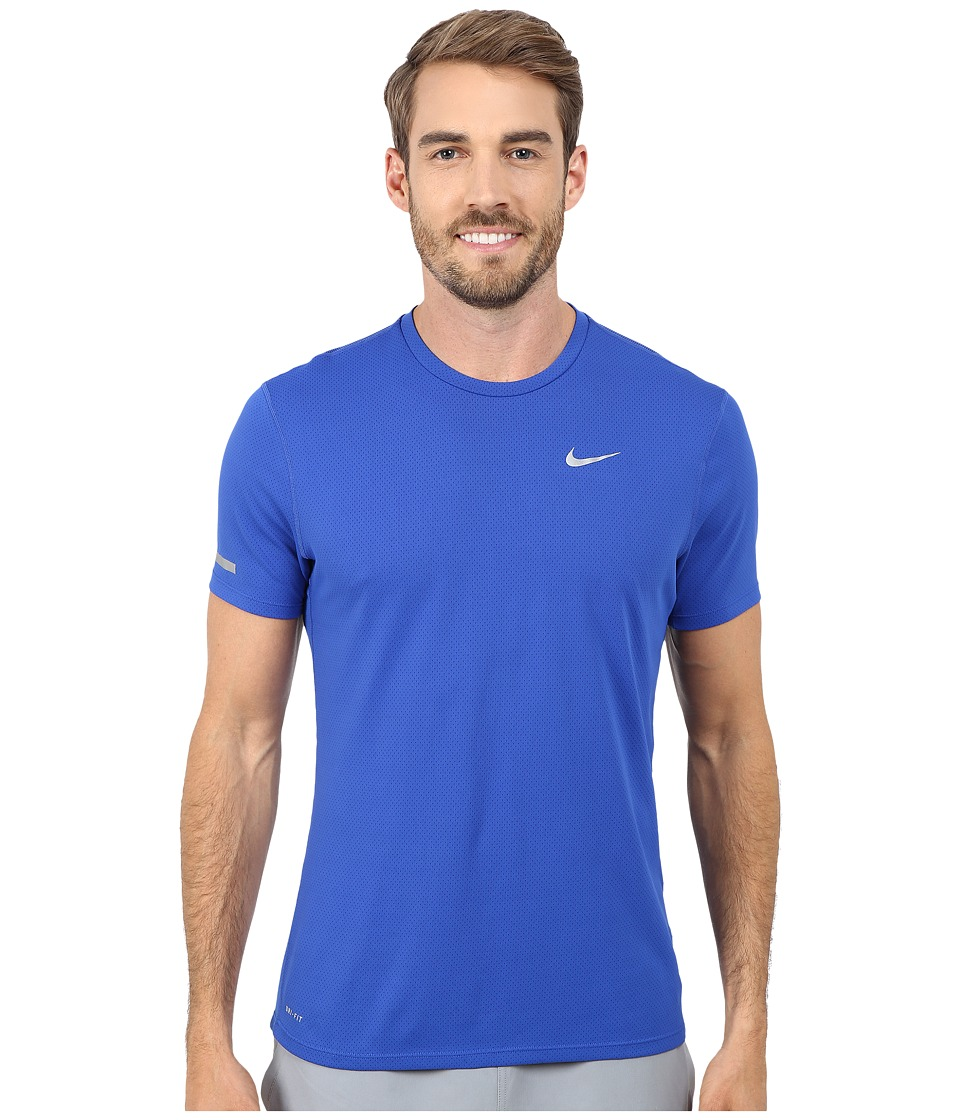 Nike - Dri-FIT Contour S/S Running Shirt (Game Royal/Reflective Silver) Men