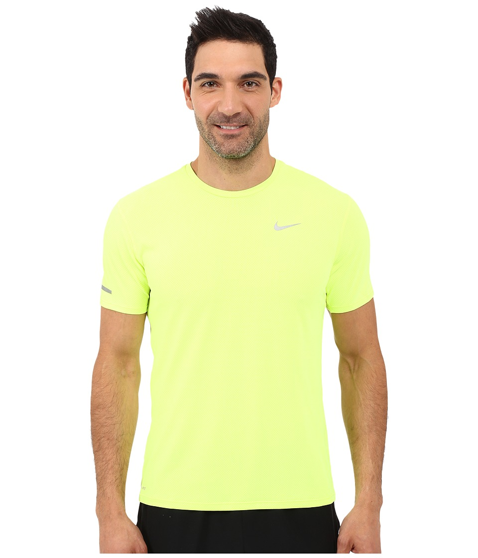 Nike Dri-FIT Contour S/S Running Shirt (Volt/Reflective Silver) Men