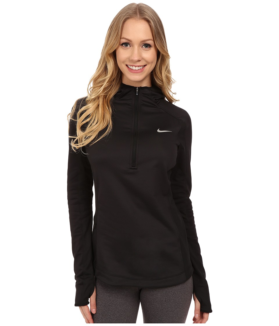 Nike - Dri-FIT Thermal Hoodie (Black/Black/Reflective Silver) Women