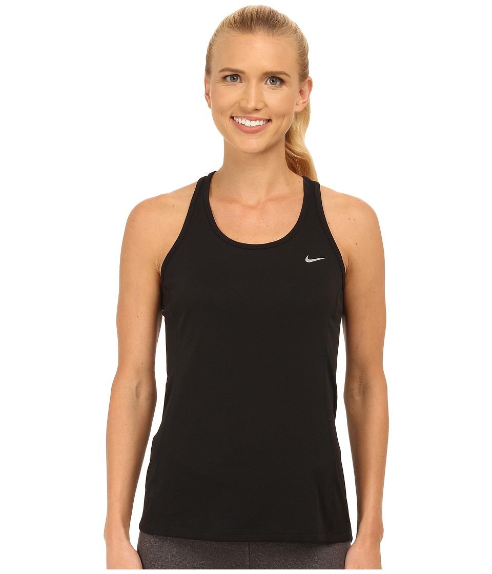Nike - Dry Contour Running Tank (Black/Reflective Silver) Women's Sleeveless