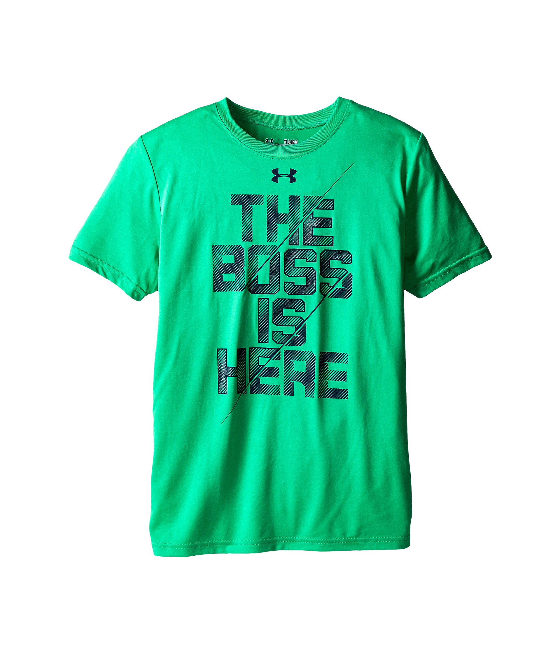 Under armour kids ua boss is here short sleeve t shirt big for Under armour shirts for kids