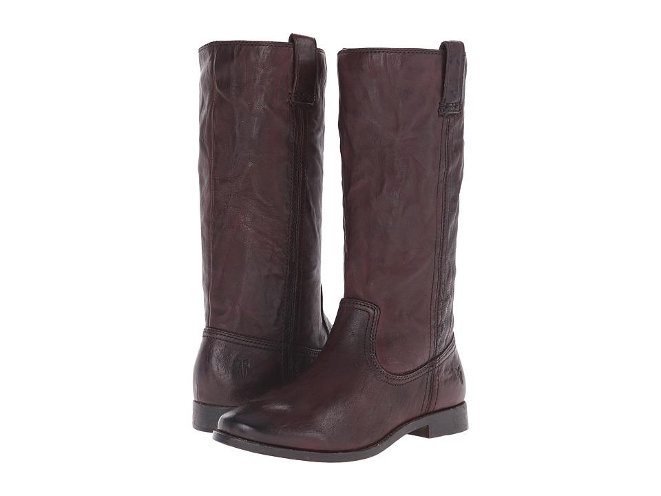 Frye Anna Mid Pull On Dark Brown Antique Soft Vintage Cowboy Boots