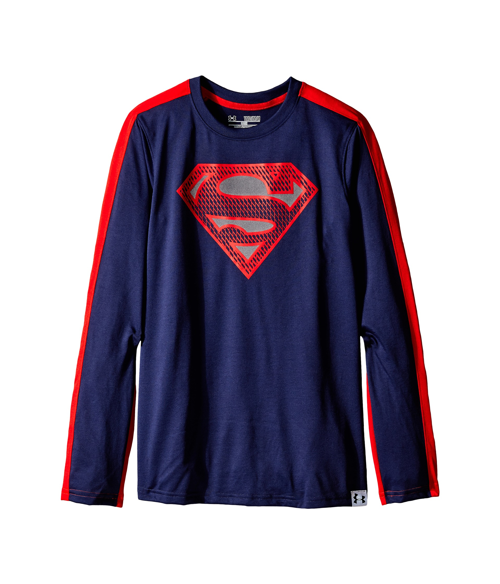 Under armour kids ua alter ego superman reflective long for Under armour shirts for kids