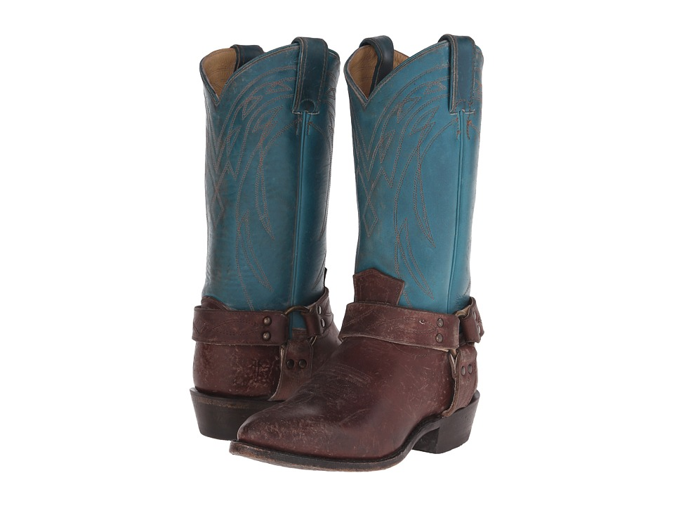 Frye Billy Harness Turquoise Multi Smooth Full Grain/Smooth Pull Up Cowboy Boots