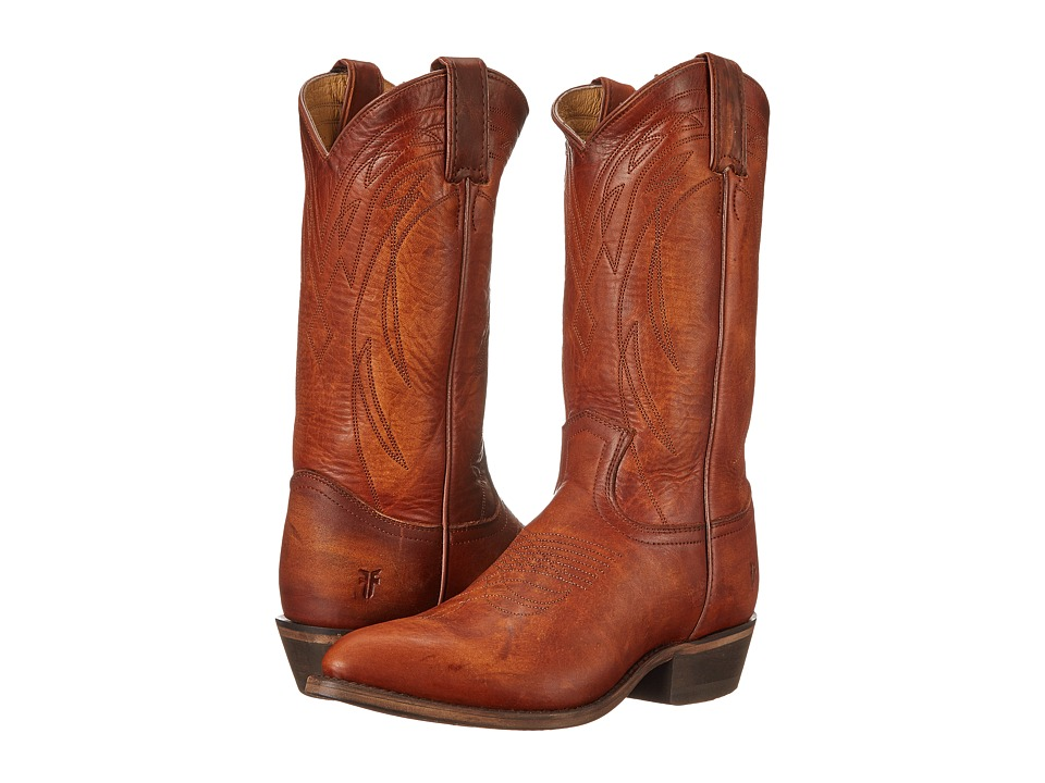 Frye Billy Pull On Cognac Washed Oiled Vintage Cowboy Boots