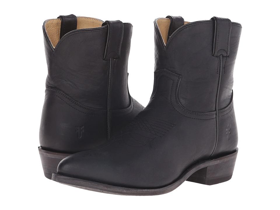 Frye Billy Short (Black Washed Oiled Vintage) Western Boots