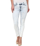 DKNY Jeans - Ave B Ultra Skinny Rip and Repair Crop in Sky Wash