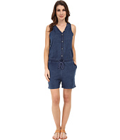 DKNY Jeans - Knit Denim Romper in Victory Wash